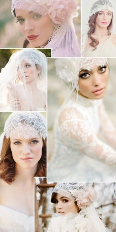 Veiled in Vintage with Cap Veils...