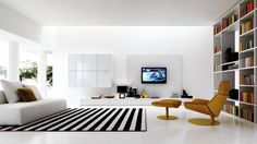 Cool Modern living rooms and technology for it.
