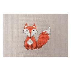 Kit point de croix - torchon - renard
