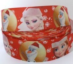 Fita gorgurão Frozen Natal 38mm - pç com 3m