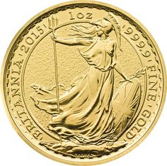 The Royal Mint 2015 Gold Britannia Coin contains a troy ounce of 24 carat fine Gold. The Britannia is legal tender in the UK and is VAT and CGT free