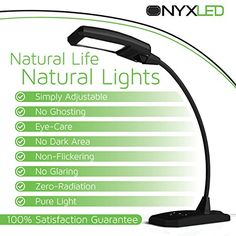 cool LED Desk Lamp, Touch Lamp, ONYXLED LS 1030, 3 in 1 Touch/Adjustable/USB Outlet Charger For Portable Devices, 5 Level Lamp Dimmer Touch Lamp Pad, 22 Inch Max Height Flexible Gooseneck (Outreaches Competitor Lamps) Lamp Used Primarily as a Bankers Lamp, College Lamp, Bedside Lamp, Teens Lamp, LED Desk Lamp, Office Lamp, LED Lamps, Touch Lamp, 100% Satisfaction Money Back Guarantee [BLACK]