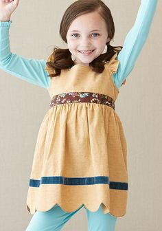 Golden Love Me Dress - Secret Fields - Fall 2014   - Starts at 18 months -  Try it with the eggshell long sleeve tee and Windmill Bennys!