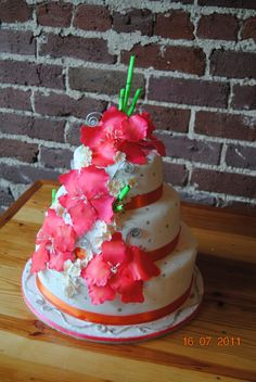 This cake is all edible with the exception of the stamens in the flowers