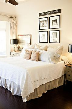 I Like No Headboard And Whites With Neutrals
