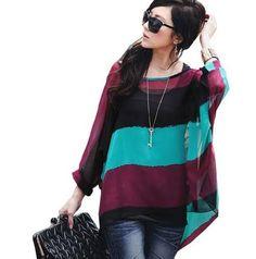 Casual Chiffon Blouse Summer Style Women Chiffon Shirts Tops