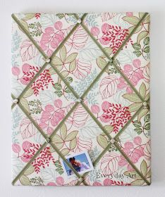How to make a French memo board ... Although I would pick a much less girly fabric!