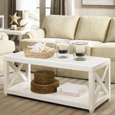 Hammary Transitions Rectangular Cocktail Table  | The best coffee tables home design ideas! See more inspiring images on our boards at: http://www.pinterest.com/homedsgnideas/home-design-ideas-coffee-tables/