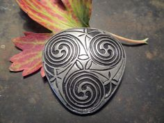 Celtic Pewter PinTriangle BroochTriangle by CodettiSupply on Etsy