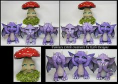 Fantasy Littles Creatures Handmade with Polymer Clay FaceBook Fans Page…