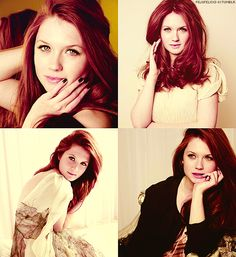 Bonnie Wright;) From harry potter.  Love her hair. I'm going to dye my hair that color soon!