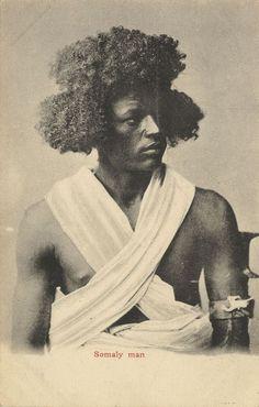 Somaly man, Somalia, Postkarte, ca. 1900