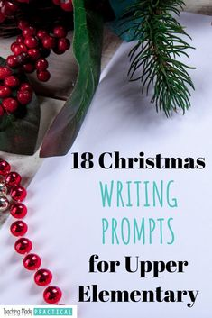 Christmas Writing Prompts for and Grade Teaching Writing, Teaching Resources, Teaching Ideas, Elementary Teacher, Upper Elementary, Christmas Writing Prompts, Writing Strategies, Pencil And Paper, Christmas Cards To Make