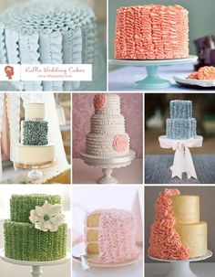 ruffle wedding cakes  http://bit.ly/HkpNKT