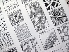 Free+Print+Zentangle+Patterns | Drawing: what the heck are Zentangles? | Mississhippi's Madness
