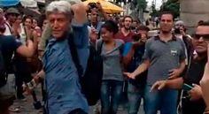 """Caco Barcellos é agredido por esquerdistas; ainda assim, o Globo os chama de """"manifestantes"""""""