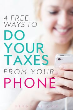 These are 4 ways you can file your taxes for free using your iphone. One of them even offers free state tax filing as well as free federal filing! Enjoy!