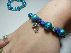 Anchor's Away Turquoise and Lapis chip with by RainbowCatParty, $15.99