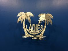 "Ladies ""Bathroom Sign""  Great for Restaurants, Bars or any other Public or retail establishment.  For more details visit https://themetaledge.com/main-catalog/house-number-signs/ladies-bathroom-sign.html"