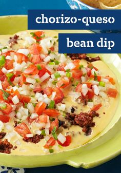 Chorizo-Queso Bean Dip – Better print up a few copies of this appetizer recipe if you're bringing it to a party. It's a near certainty people will be asking for it!