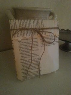 Old book gift wrap