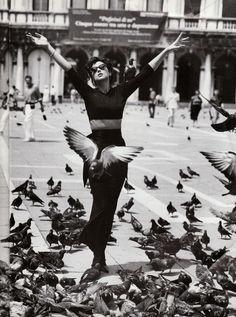 """Monica Bellucci  Foto © Walter Chin """"Venezia October 1994"""""""