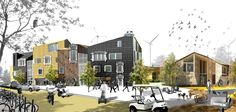 архитектурная подача проекта школы - Пошук Google