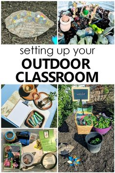 Creating Your Own Outdoor Classroom - Fantastic Fun & Learning Setting up your Outdoor Classroom. Tips for creating an outdoor learning space for preschoolers Preschool Classroom Setup, Outdoor Classroom, Outdoor School, Preschool Curriculum, Preschool Learning, Fun Learning, Learning Activities, Homeschooling, Classroom Birthday