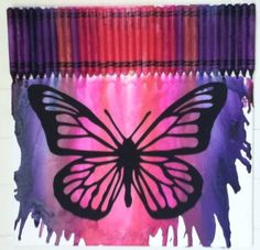Melted+Crayon+Art++Butterfly+by+MeltGallery+on+Etsy,+$40.00