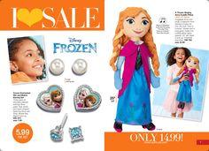 Avon Book Campaign 16. I LOVE SALE- Frozen Singing Anna Cuddle Pillow amd Frozen Elsa Anna earring set. ON SALE. Shop online with me at https://andreafitch.avonrepresentative.com #buyavon #frozen