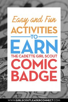 If your getting ready to plan your Cadette Girl Scout meeting and need Cadette comic badge ideas look no further for the perfect planned out program to earn the Cadette Comic artist badge.