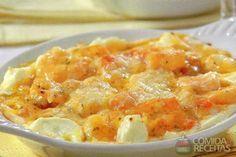 Receita de Camarão ao molho de queijo cremoso - Comida e Receitas