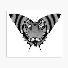 'Tiger Butterfly' Canvas Print by Rockyvillaruel Canvas Painting Patterns, Canvas Artwork, Canvas Art Prints, Artwork Prints, Canvas Canvas, Canvas Paintings, Butterfly Canvas, Butterfly Print, Zentangle