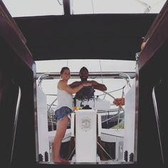 Jotudom Team! Ahhh sailing with my husband  #sailboat #sail #sailing #cruise #cruising #boat #boatlife #jotudom #svjotudom #ocean #yacht #yachtlife #lifestyle #adventure #journey #travel #freedom #wanderlust #happy #husband #captains by chelsea.patricia