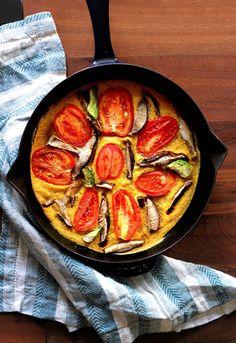 Vegan Tomato Mushroom Avocado Quiche | Peaceful Dumpling