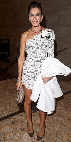 sarah jessica parker. This is going to be my wedding dress!! I always wanted a simple/snazzy lace dress.
