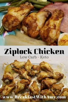 This Low Carb Ziplock Chicken is easy to prepare for dinner. or prep ahead to have lunches for the week! Quick Weeknight Meals, Quick Dinner Recipes, Easy Chicken Parmesan, Keto Chicken, Low Carb Chicken Recipes, Diet Recipes, Easy Low Carb Lunches, Low Carb Casseroles, Latest Recipe