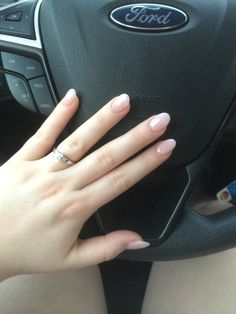Round acrylic nails with opi gel polish in I THEODORE YOU