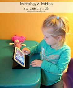 What happened to toddlers playing with play doh, crayons or crafts? Now it is all about a screen. A digital world that sucks them in at an early age.