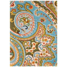 Would love it if the print was in a home decor fabric!  Isabella Rug from the Colorful Coop event at Joss and Main!