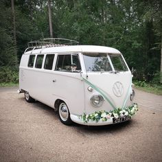 Simple and stylish way to introduce a little colour into your wedding. Coordinate your wedding car with your wedding theme. Wedding Hire, Vintage Weddings, East Sussex, Vw Camper, Woodland Wedding, Surrey, Colour, Stylish, Simple