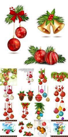 Блог Колибри: Сhristmas balls vector set 2 Christmas Greetings, Christmas Images, Vintage Christmas, Christmas Time, Christmas Scenes, Xmas, Christmas Ornaments, Christmas Cards, Happy Planner