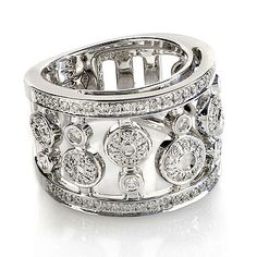 """Diamond Pave Set Circle Ring in 18kt White gold - I would wear this on the middle finger of my right hand. This is on my """"When I win the lottery"""" shopping list. :)"""