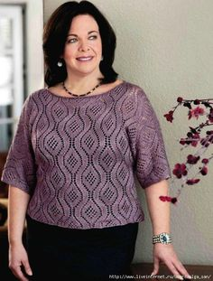 Knitting Plus: Mastering Fit + Plus-Size Style + 15 Projects Knitting Club, Lace Knitting, Knitting Stitches, Crochet Clothes, Pulls, Plus Size Fashion, Knit Crochet, Knitting Patterns, Sweaters