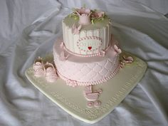 Christening cake for litle girls. Occasion Cakes, Christening, Wedding Cakes, Creative, Desserts, Pink, Birthday Cakes, Mothers, Girls
