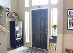Black Interior Painted Door www.decorchick.com Great idea...need to remember to paint my inside front door.