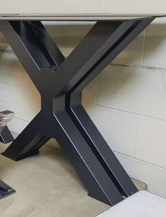 New Trestle Table Legs, Model #TR12ND, Heavy duty, Sturdy Metal Legs, Industrial Legs, Dining Table Leg Set