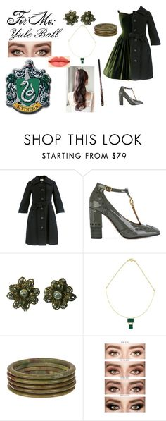 """""""Yule Ball (Persoanl)"""" by e-auradon on Polyvore featuring Jacques Heim, Chloé and Miriam Haskell"""