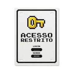 Placa de Aço Acesso Restrito Sala Nerd, E Design, Wall Design, Nerd Decor, Geek Games, Gamers, Gamer Room, Nerd Geek, Cool Posters