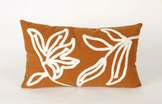 Trans-Ocean Imports 7SA1S307617 Visions I Collection Orange Finish Pillow